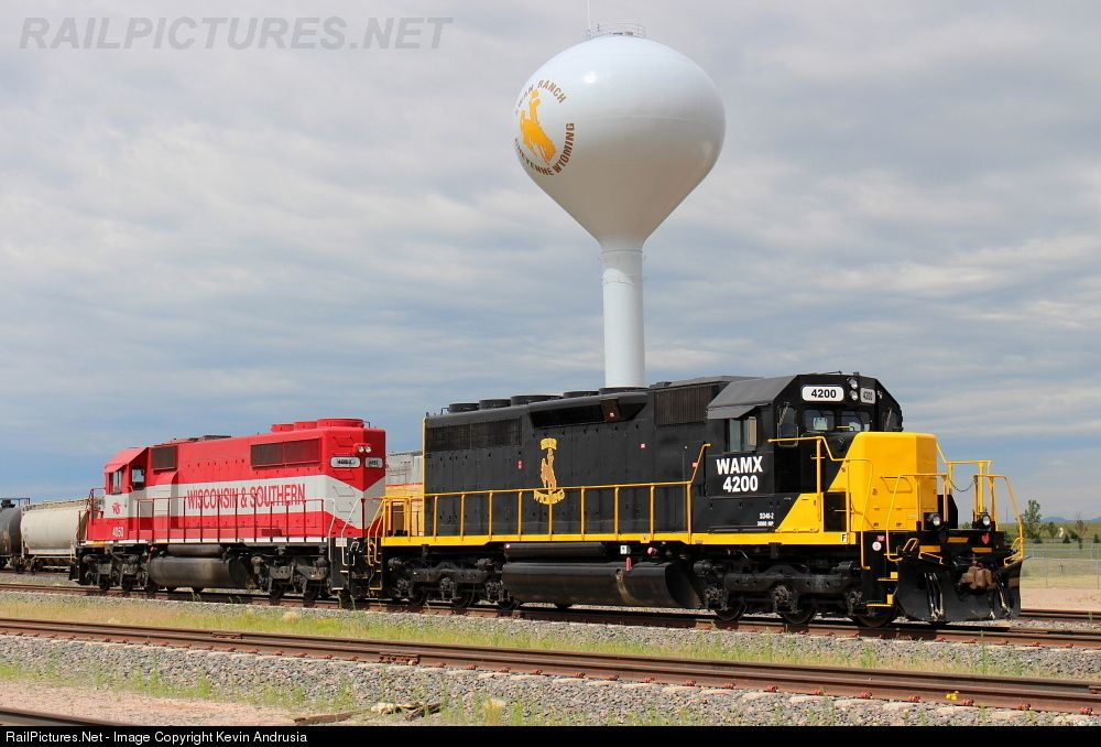 WAMX 4200 Swan Ranch Railroad EMD SD402 at Speer, Wyoming