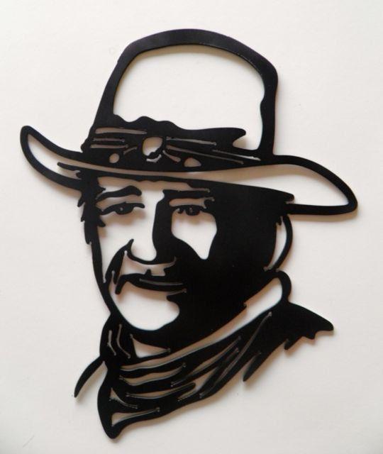 John Wayne Metal Art Sign Silhouette Art Western Art Decor Etsy Metal Signs Custom Metal Signs Custom Metal