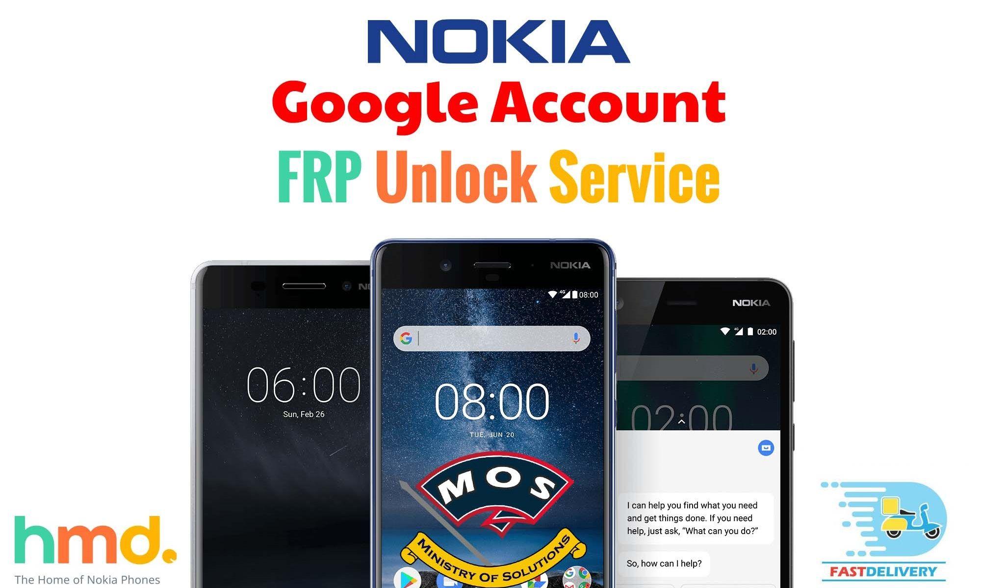 Nokia FRP RemoveGoogle Account Unlock (Instant) Google