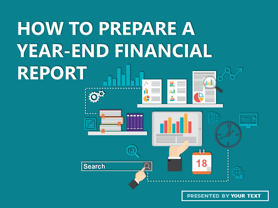 powerpoint template how to prepare a yearend financial