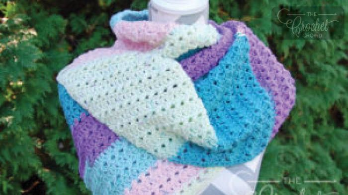 Crochet One Big Cake Asymmetrical Scarf Pattern One