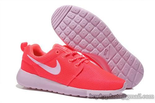 the latest 7400e 56a9c Women s NIKE Roshe Run Jogging Shoes London Running Shoes Rainbow Mesh Shoes  White Pink