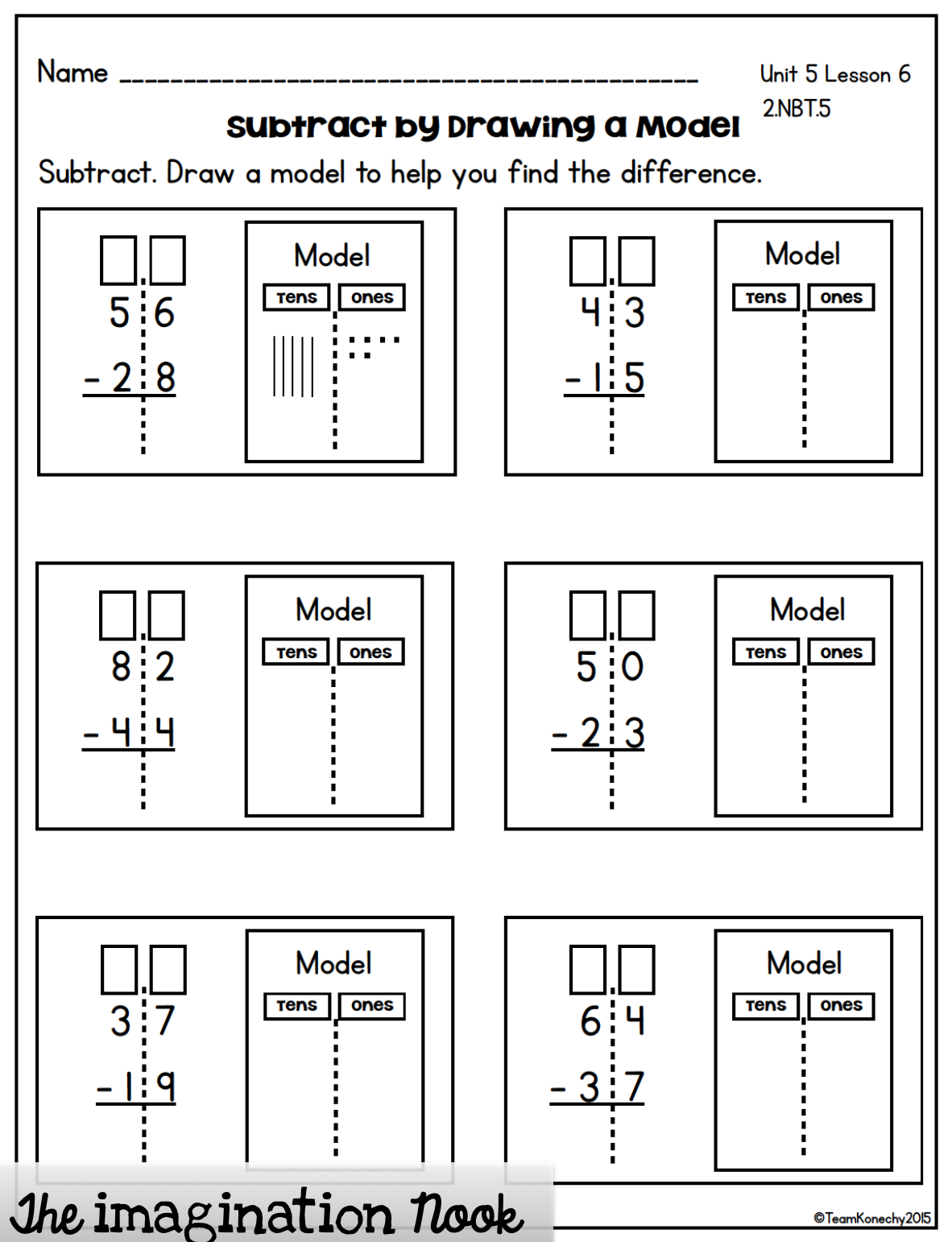 These daily math lessons covering double digit subtraction are created  specifically to cover second g…   Common core math worksheets [ 1542 x 1182 Pixel ]