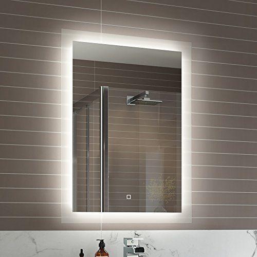 500 X 700 Mm Illuminated Led Bathroom Mirror Vanity Light Sensor Demister Ml7000 Http Www Amazon Co Uk Dp B015g9zxre Ref Cm Sw R Pi A Bathroom Mirror Lights