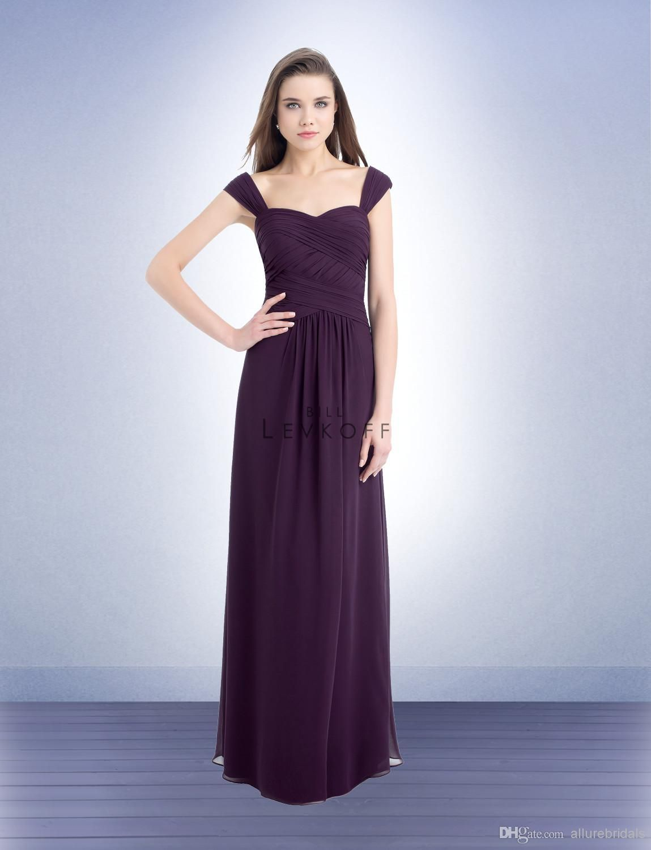 Wholesale bridesmaid dress buy charming offshoulder long pleat
