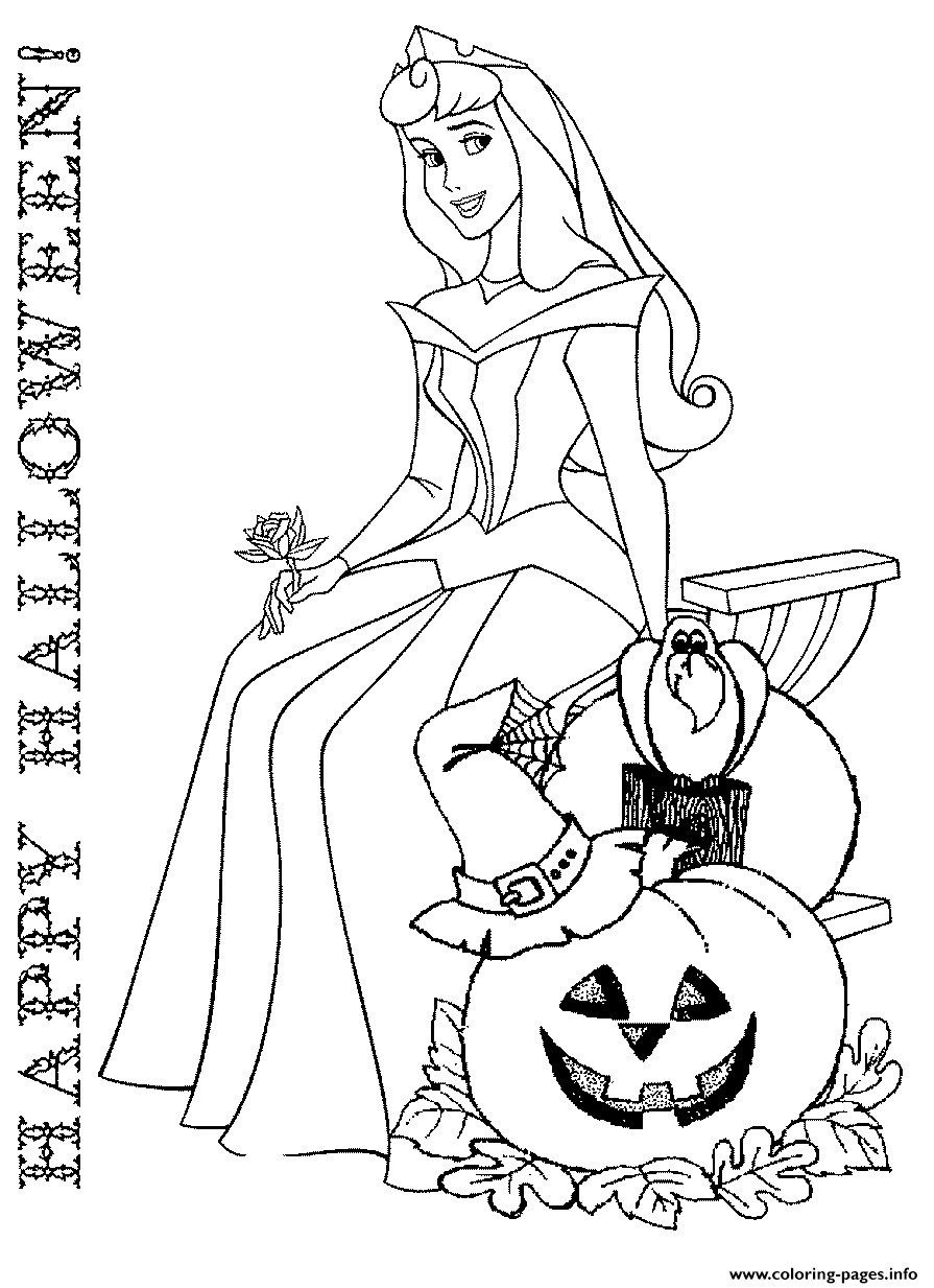 Disney Princess Coloring Page Halloween Disney Princess