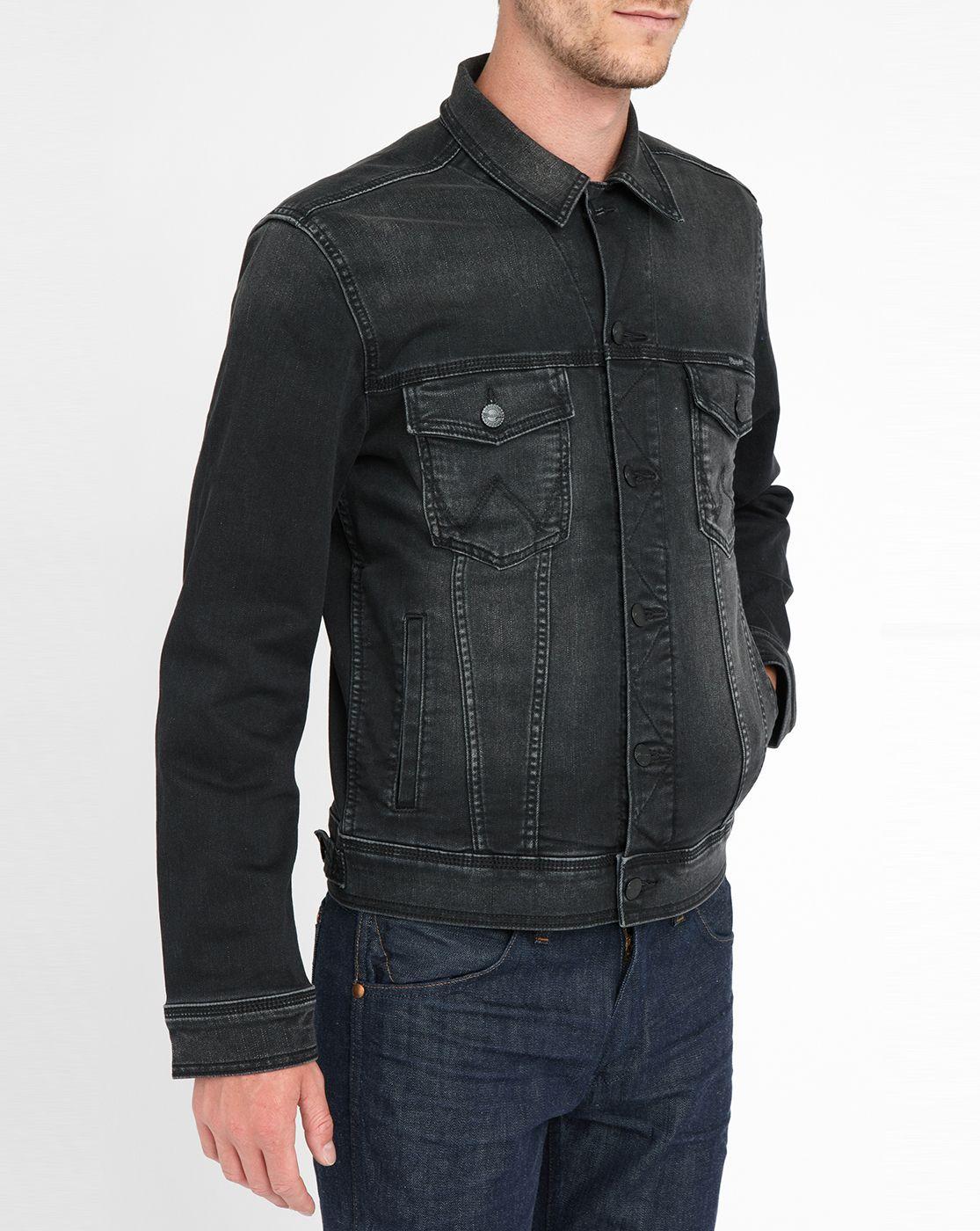 Black Faded Jean Jacket Denim jacket men, Jackets, Black