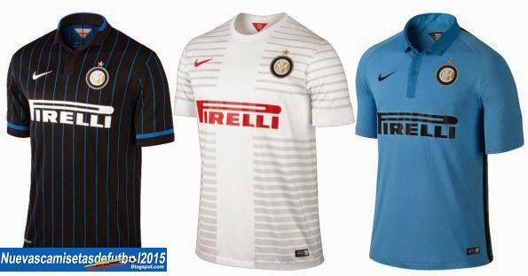 Nuevas camisetas de futbol 2014 2015 2016  Camiseta Serie A 2014  2015:Camiseta INTER MILAN Nike 2014 2015 40d58484d