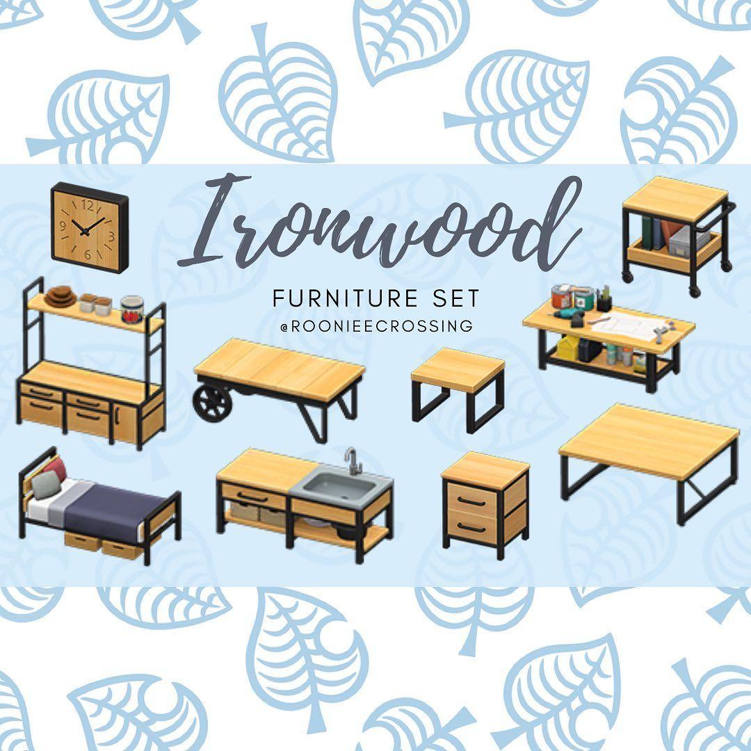 "Teary-eyed klutz on Instagram: ""The ironwood furniture set ... on Ironwood Furniture Animal Crossing  id=39133"