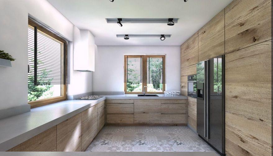 Pin Na Kuchnia Biała Drewno Cegły