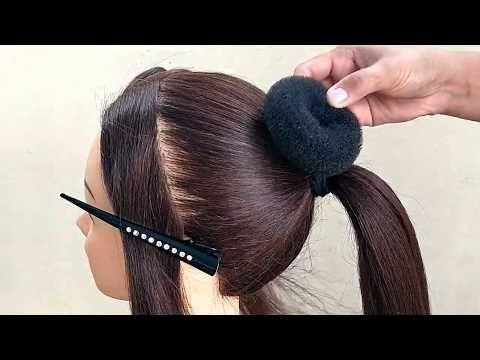 BEAUTIFUL !! BUN HAIRSTYLE FOR GIRLS || WEDDING & FUNCTION BUN HAIRSTYLES | كعكة تصفيفة الشعر