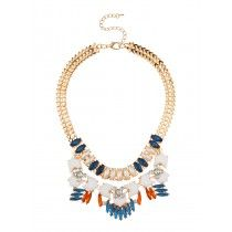 Boron Chain Collar Necklace Blue/White by Stassi x SPD