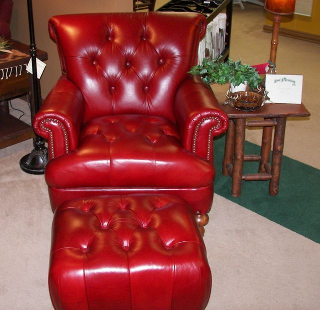 Red Leather Chair For My Library
