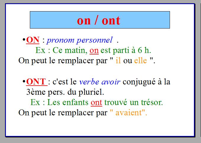 ORTHOGRAPHE : Les homophones grammaticaux (avec images ...