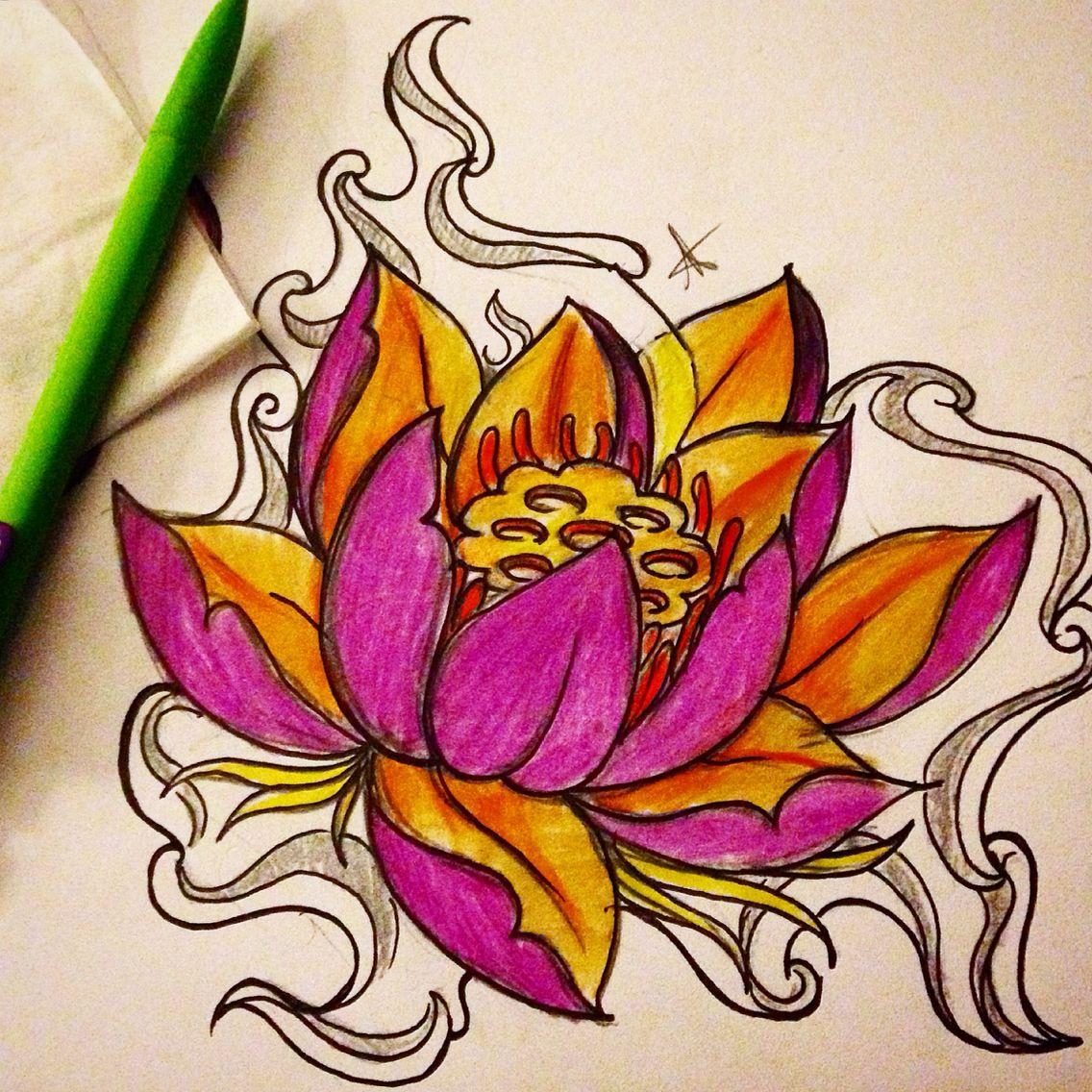 Smoking Lotus My Own Few Drawings Pinterest