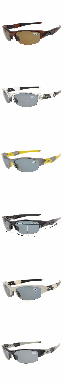 d202fb0935551 TH6166 Bifocal Eyekepper TR90 Unbreakable Half-Rim Sports Sunglasses  Bifocal Sunglasses Reading Glasses +1.0
