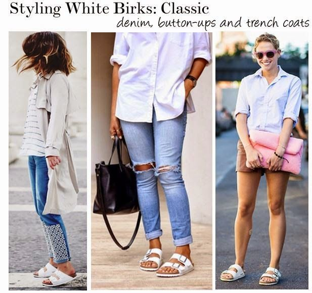 Ways To Wear The Arizona Birkenstock In White — This Is