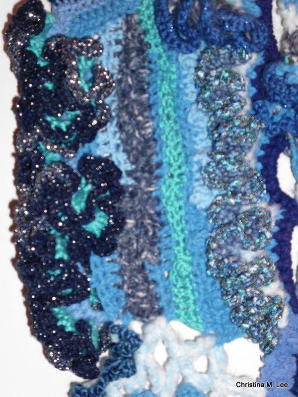 Close up of crochet detail