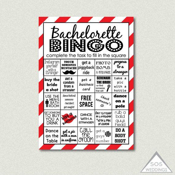 Red Hot Bachelorette Bingo, Bachelorette Bingo Cards