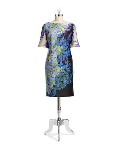 Brands Dresses Plus Printed Scuba Midi Dress Hudsons Bay My