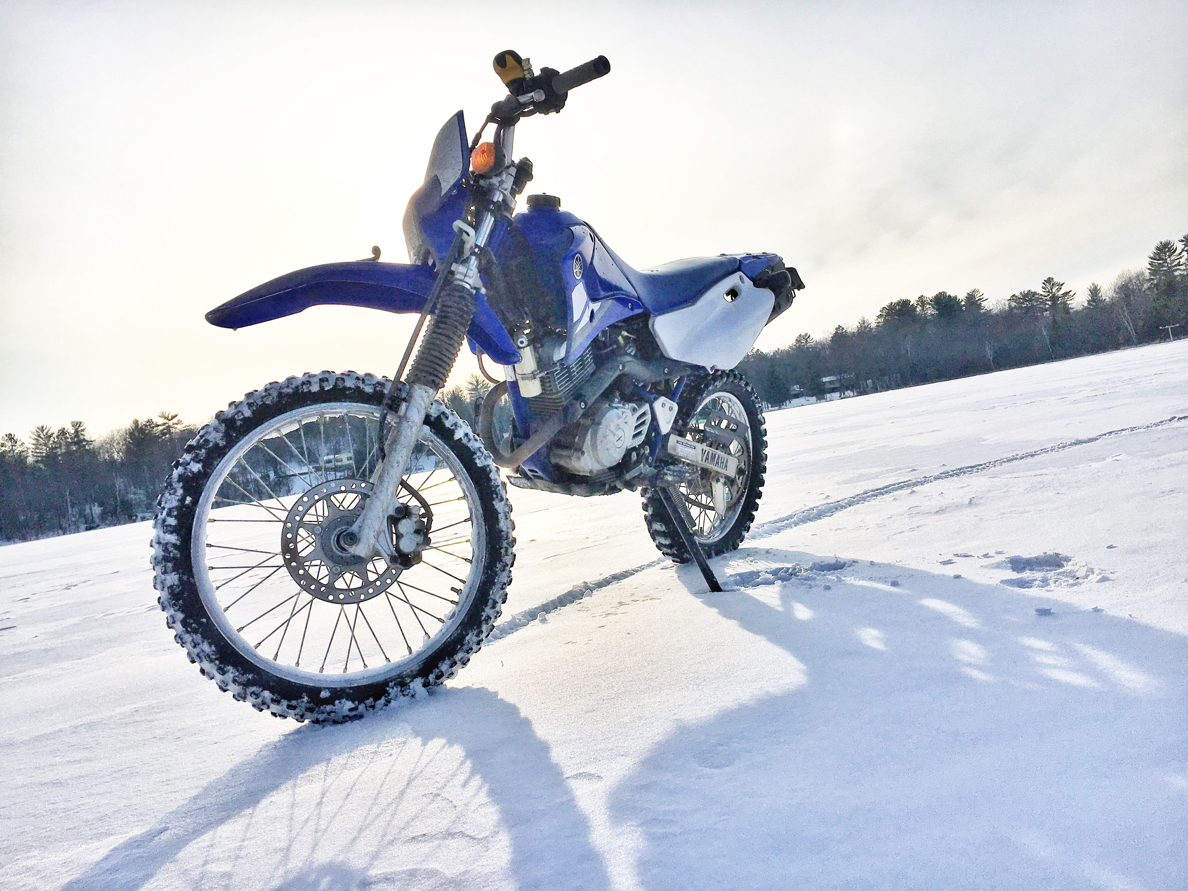 small resolution of the lake cruising yamaha ttr 125l makes heading back to the cottage a breeze after a long day on the ice