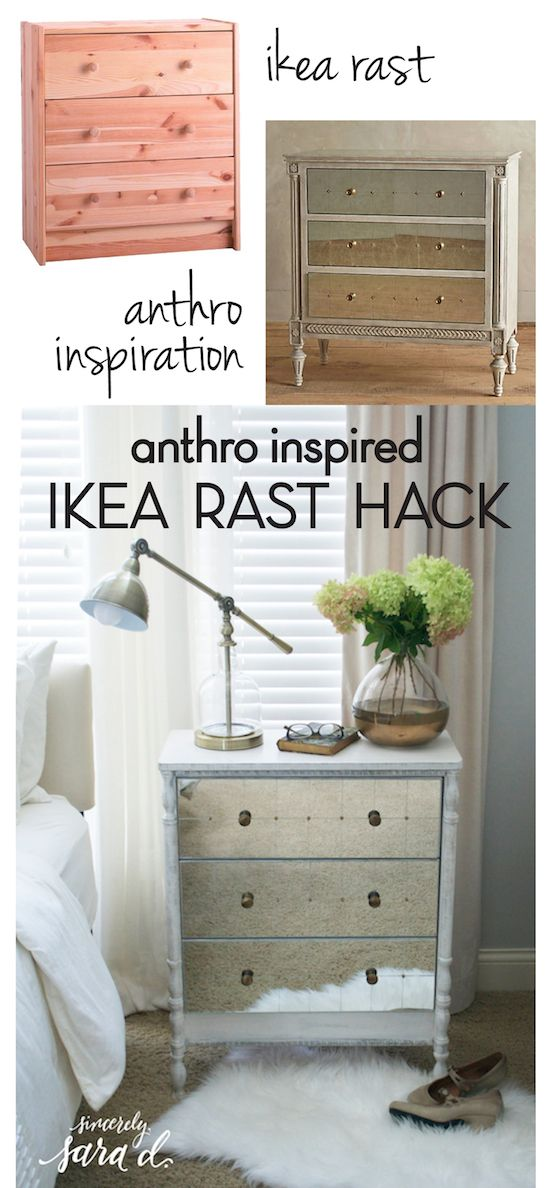 Anthropologie inspired ikea rast dresser hack ikea for Schrank pimpen