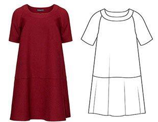 Выкройка платья прямой силуэт с рукавом фото 398
