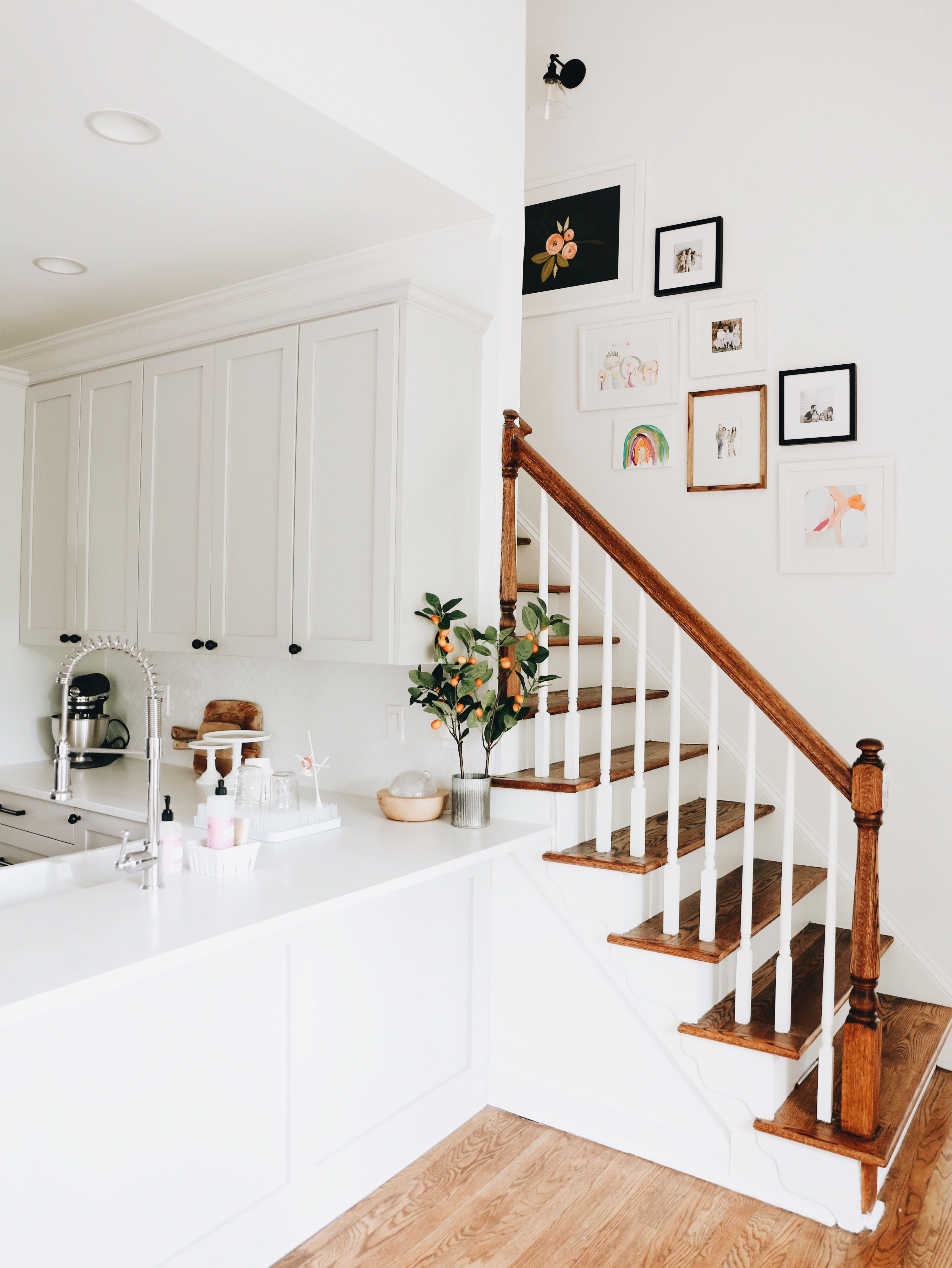 Stairway gallery wall home lifestyle and blog
