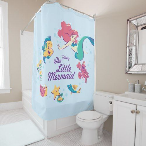 The Little Mermaid U0026 The Sea Shower Curtain