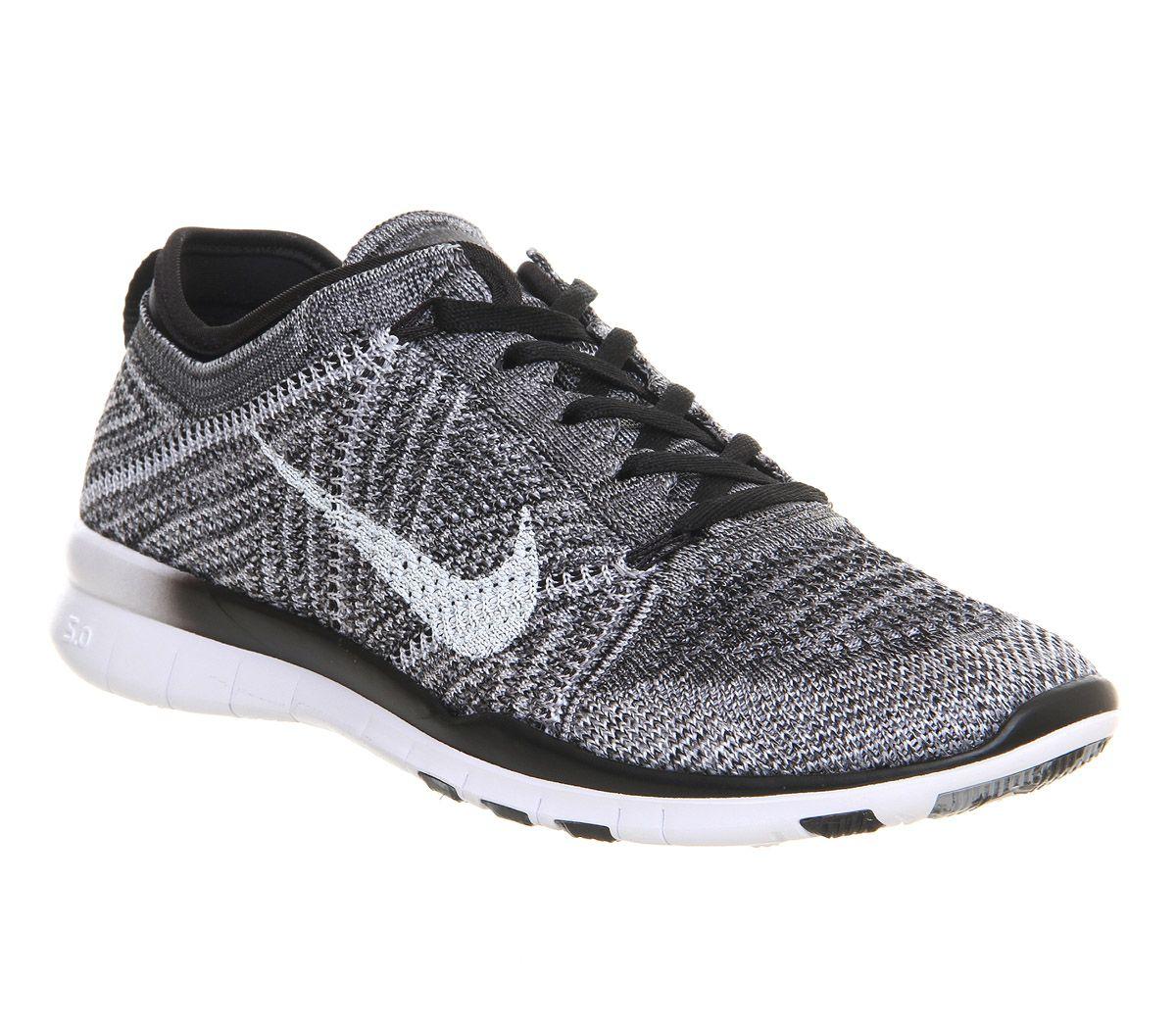 Black · Nike, Free Tr Flyknit, Black White Wolf Grey