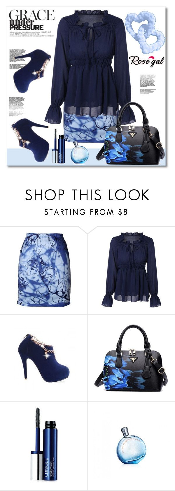 """""""Rosegal!"""" by jenny007-281 ❤ liked on Polyvore featuring Clinique"""