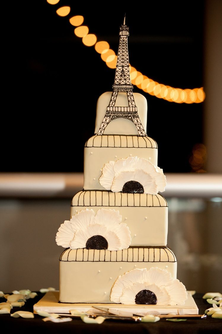Parisian Wedding Cake #eiffletowerweddingcake #OrlandoScienceCenter ...