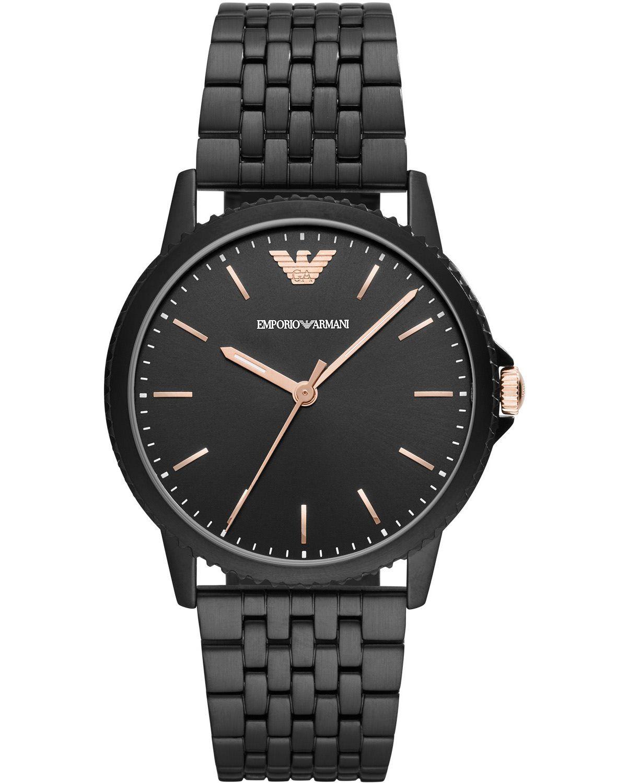Emporio Armani Interchangeable Black Stainless Steel Bracelet Gift Set Ar80021 Black Stainless Steel Bracelet Hand Watch Stainless Steel Bracelet
