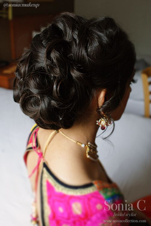Too Poofy Not My Favorite Sangeet Hair And Makeup Bridal Undo Bun With