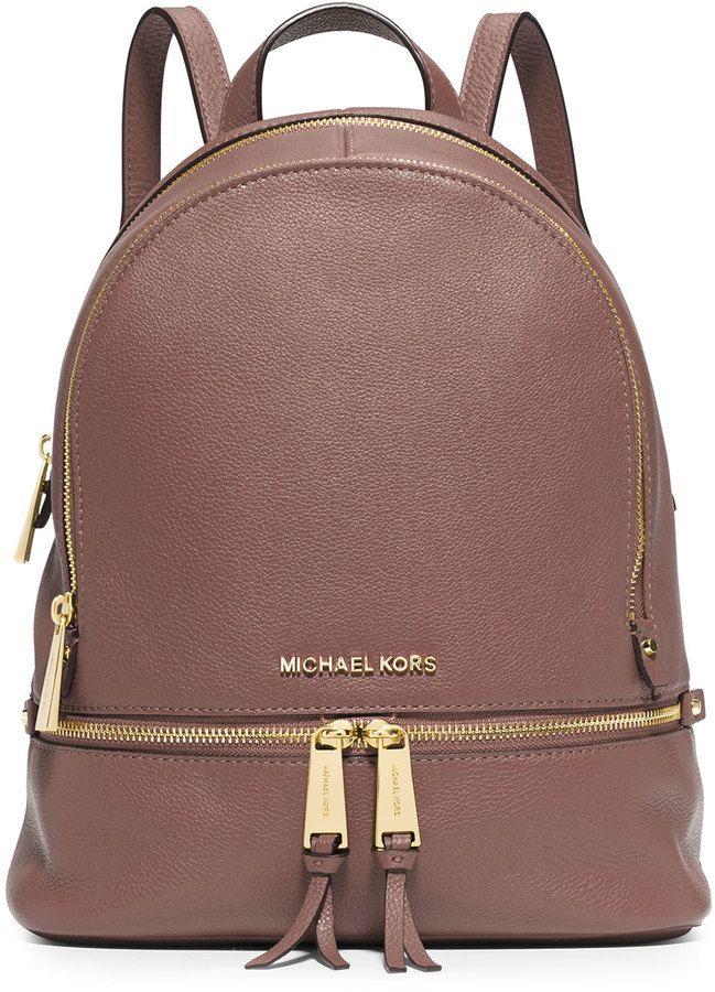 919319a87c0a MICHAEL Michael Kors Rhea Small Zip Backpack