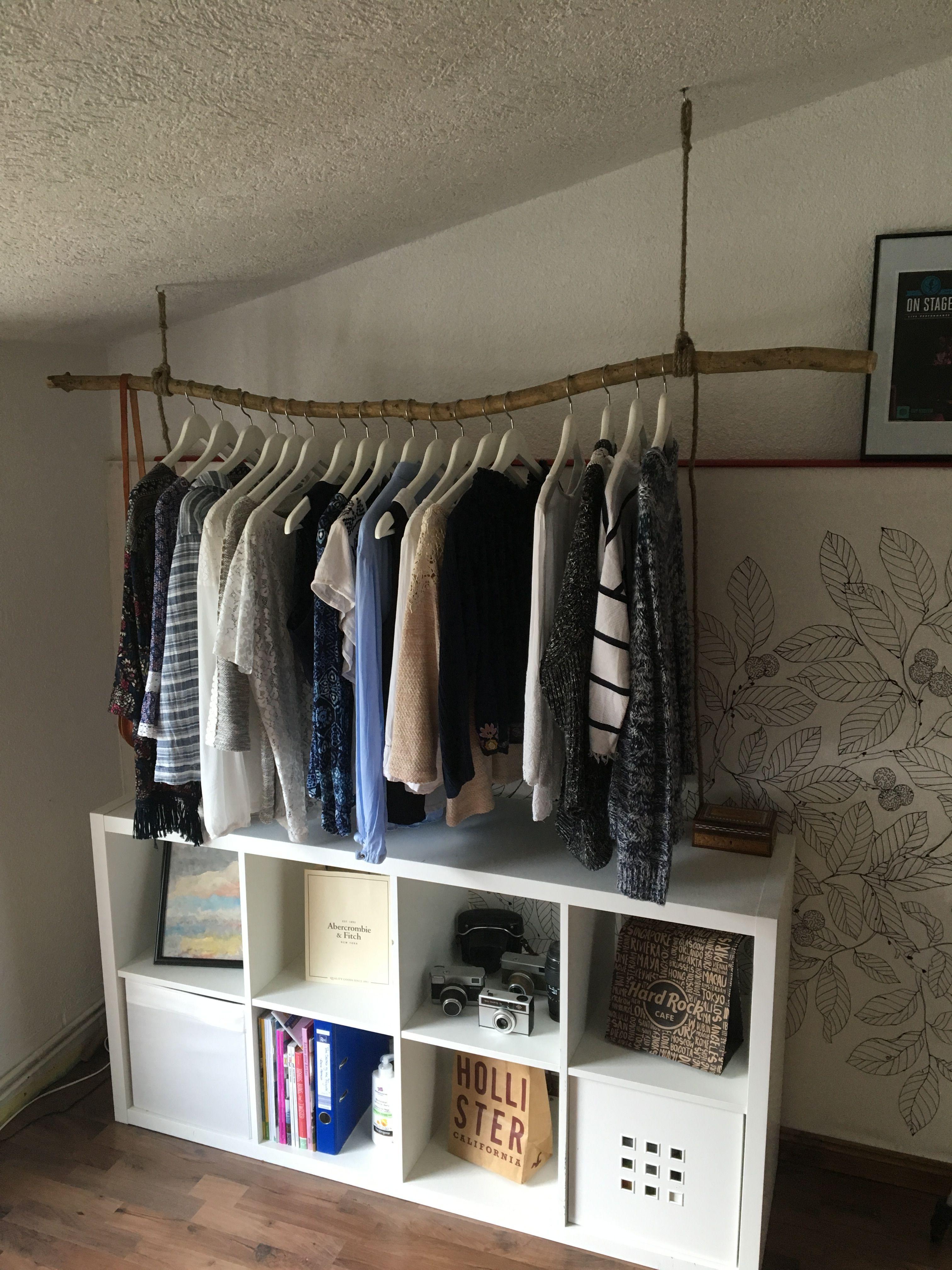 DIY Kleiderstange Aus Einem Ast