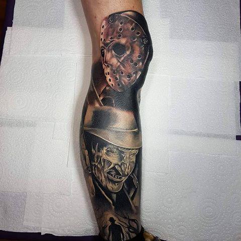 Shintotattoogallery Horror Tattoo Movie Tattoos Tattoos