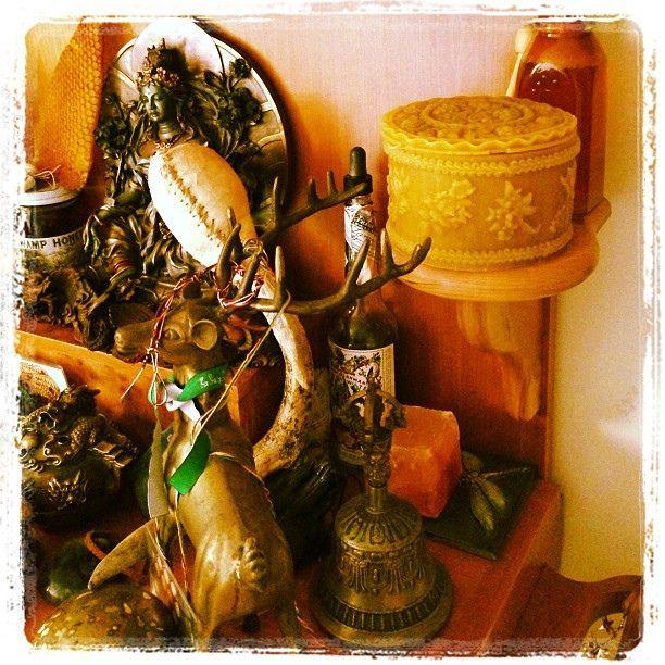 My honied life #beemagic #honeylove #altar by langelbleu on Flickr.