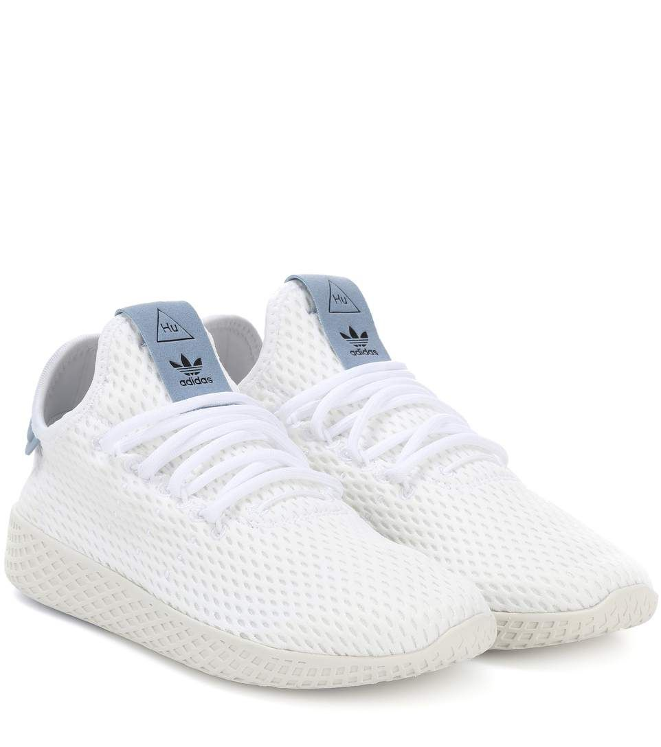 adidas Originals = Pharrell Williams Tennis Hu mesh sneakers. '