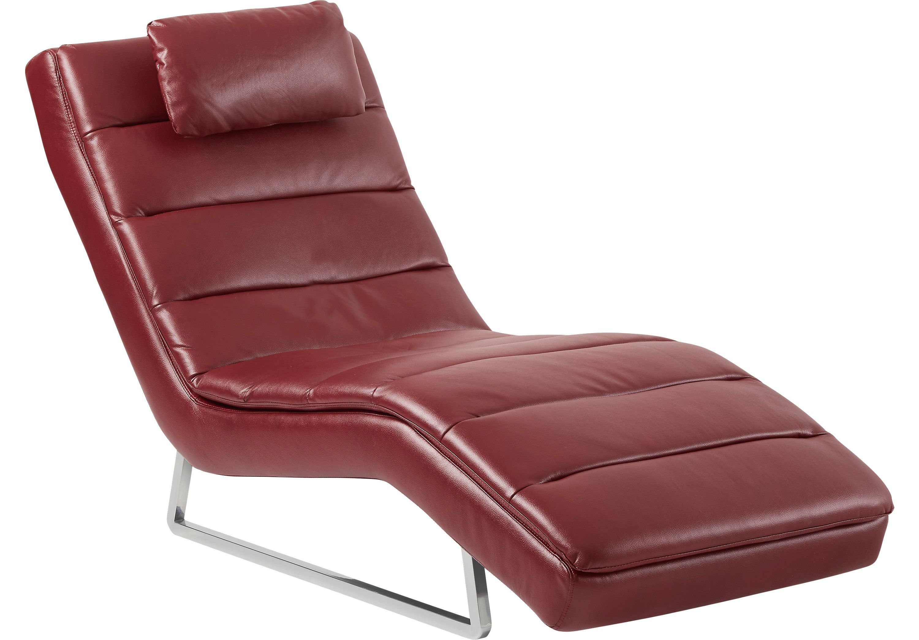 Rombro Red Chaise Chaises Red Rooms To Go Furniture Chaise