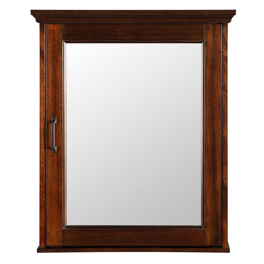 Foremost Ashburn 23 In W X 28 In H X 7 3 X2f 4 In D Framed Surface Mount Bathro Bathroom Medicine Cabinet Home Decorators Collection Wood Medicine Cabinets