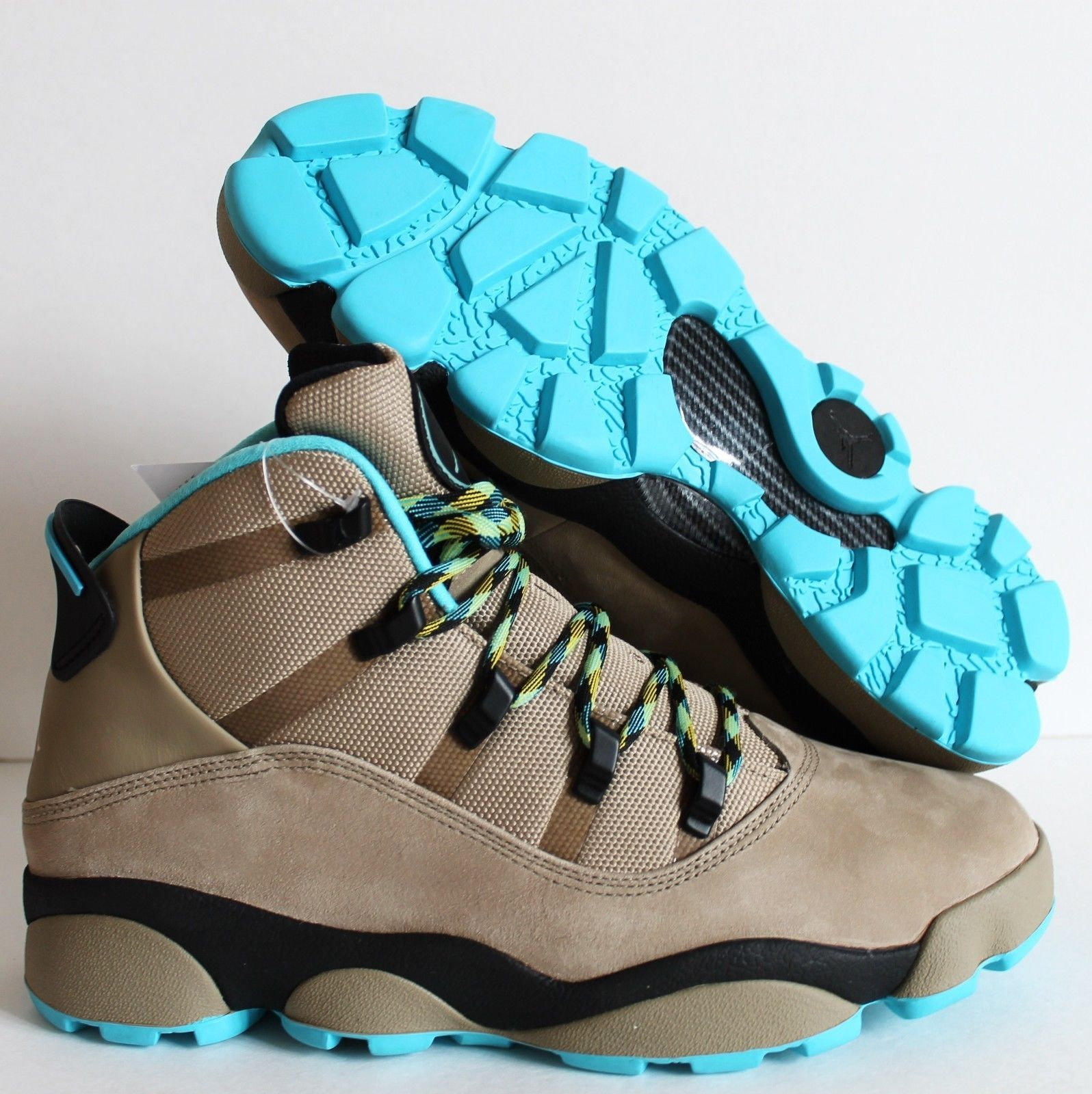 9b64c30f86c buy nike air jordan winterized 6 rings boots khaki gamma blue sz 13.5  414845 2a356 dd91e