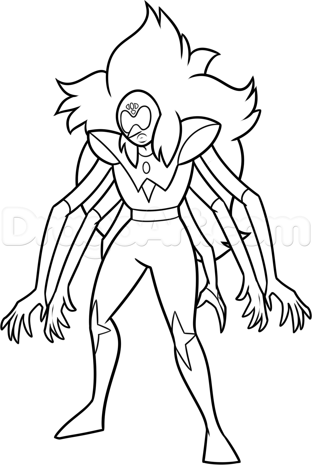 Coloring online universe - Alexandrite Steven Universe Character Coloring Pages