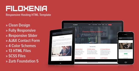 Filoxenia - Responsive Hosting HTML Template   Pinterest   Zurb ...