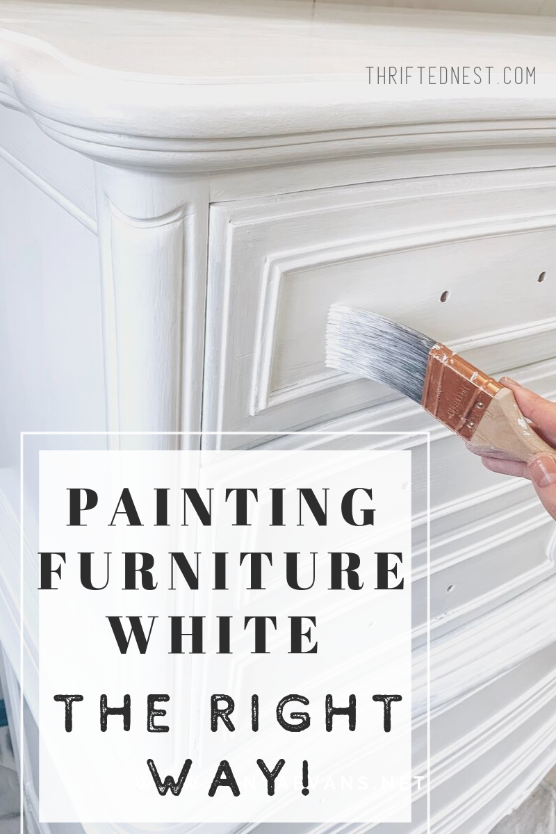 How to Paint Furniture White