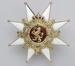 Kraschan Norska Lejonets orden - Livrustkammaren - 22496.tif