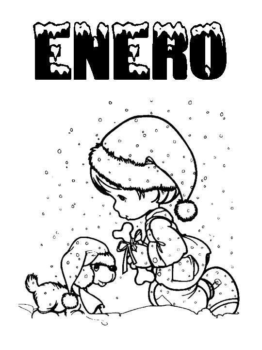 Calendario Dibujo Blanco Y Negro.Meses Del Ano Sel Meses Del Ano Fichas Y Blanco Y Negro