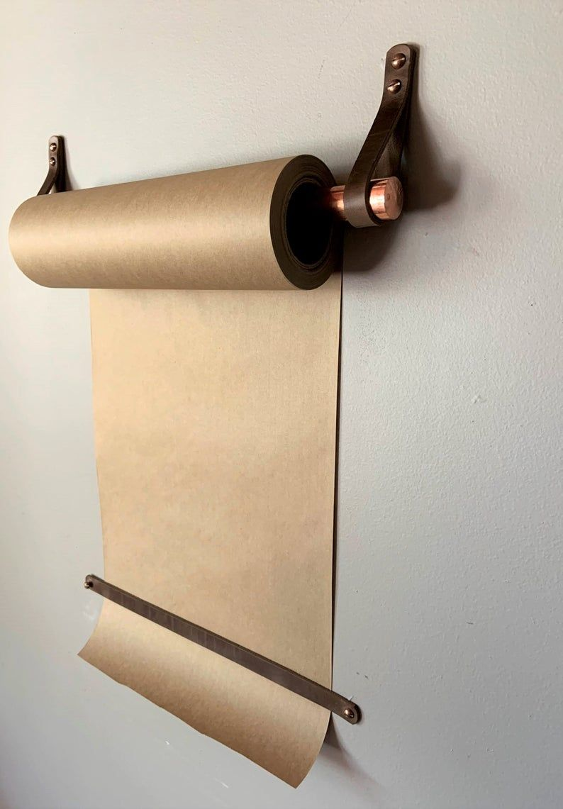Hanging Note Roll Paper Roll For Walls Kraft Paper Holder Butcher Paper Roll Paper Roll Dispenser Wall Mounted Paper Roll Modern Decor In 2020 Butcher Paper Paper Holder Kraft Paper