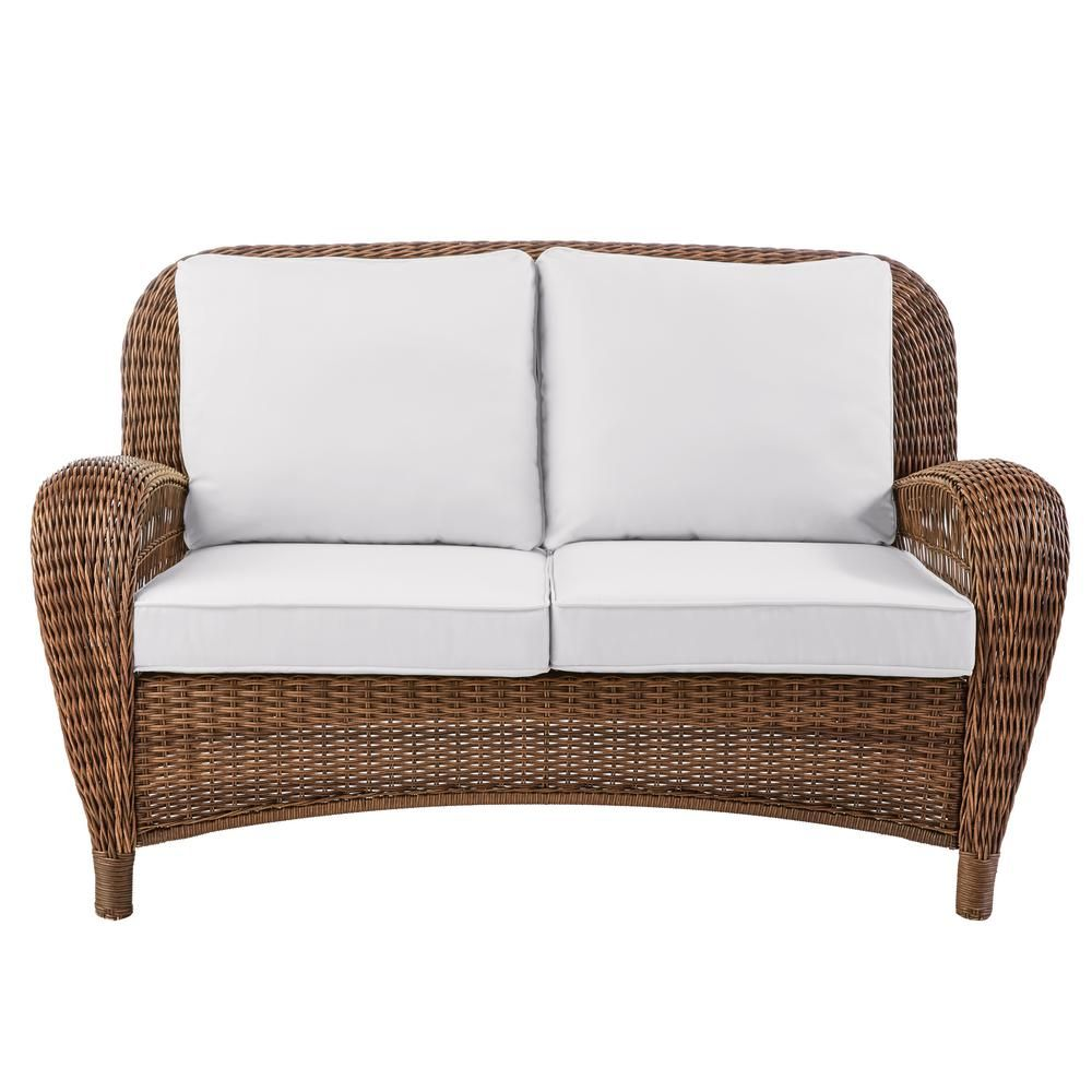 Hampton Bay Beacon Park Wicker Outdoor Loveseat With