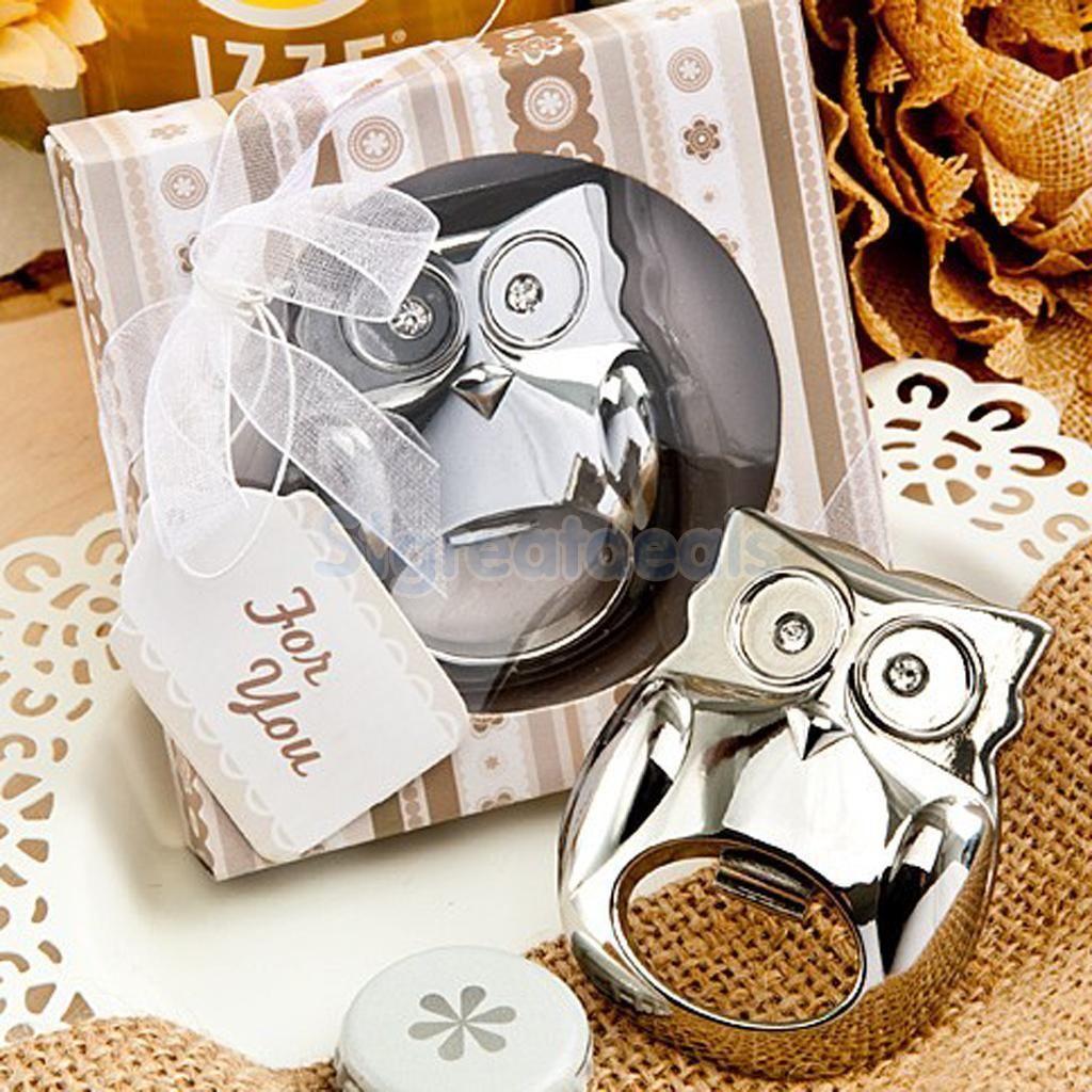 2.11 GBP - Silver Owl Beer Bottle Openers Steampunk Vtg Wedding ...